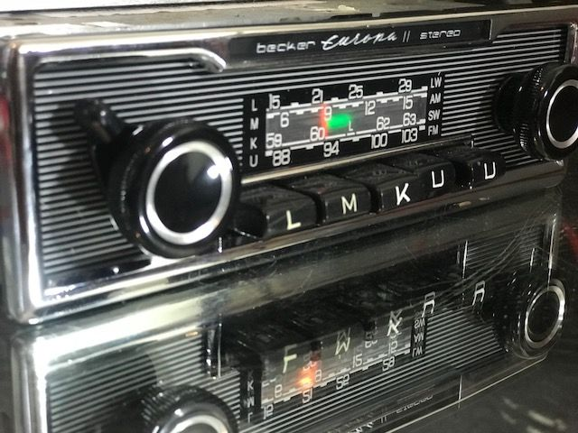 becker europa ii stereo vintage classic car fm radio amp. Black Bedroom Furniture Sets. Home Design Ideas
